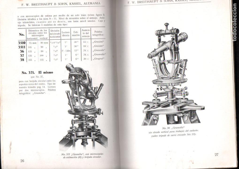 Libros antiguos: BREITHAUPT KASSEL - INSTRUMENTOS DE GEODESIA (c. 1915) - Foto 4 - 145524550