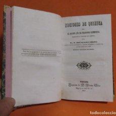 Libros antiguos: D. JOSE LLACH Y SOLIVA -NOCIONES DE QUIMICA -QUINTO FILOSOFIA IMPR. D. VICENTE OLIVA GERONA 1847 . Lote 146961006