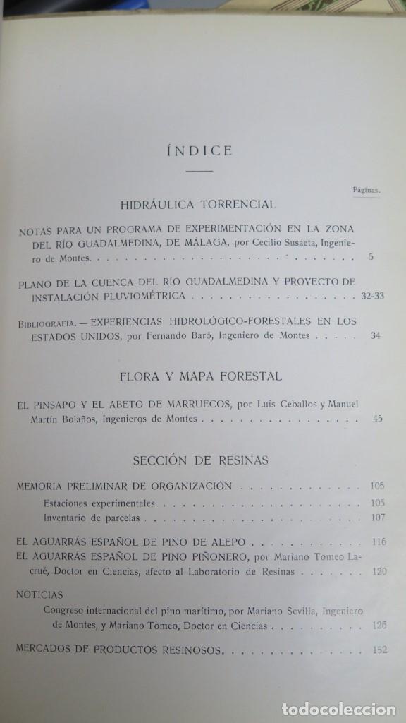 Libros antiguos: 1928.- SERVICIO FORESTAL DE INVESTIGACIONES Y EXPERIENCIAS. AÑO I. Nº3 - Foto 2 - 147598274