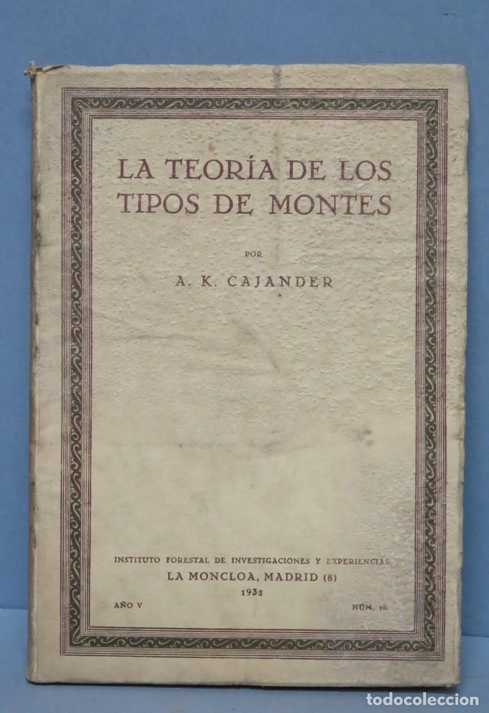 1932.- LA TEORIA DE LOS TIPOS DE MONTES. A.K.CAJANDER (Libros Antiguos, Raros y Curiosos - Ciencias, Manuales y Oficios - Bilogía y Botánica)