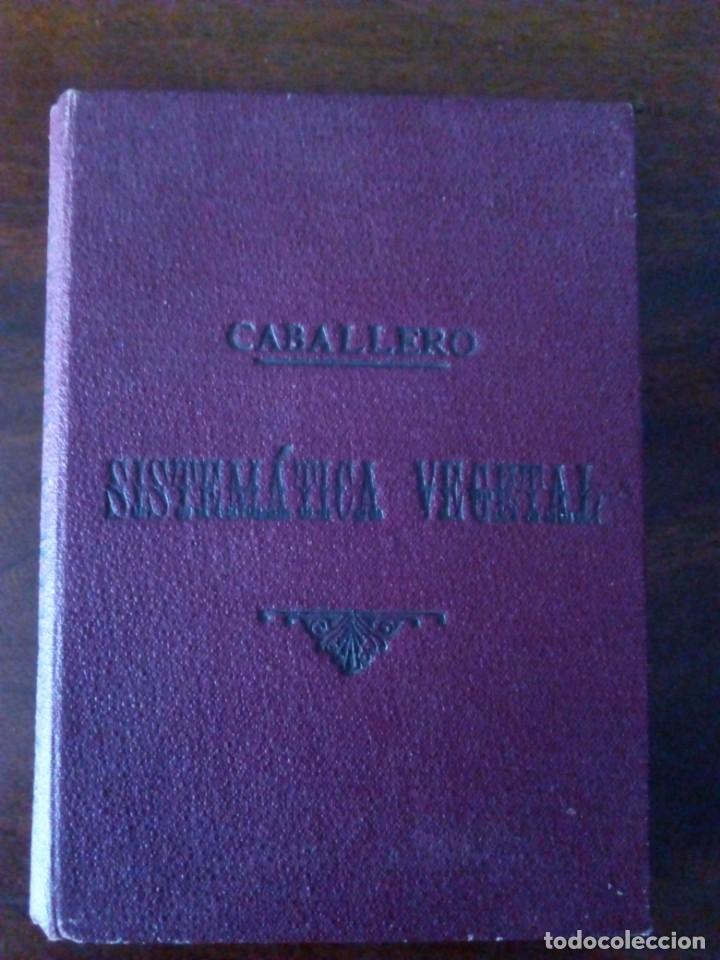 SISTEMÁTICA VEGETAL. A. CABALLERO. 1932. (Alte, seltene und kuriose Bücher - Wissenschaften, Handbücher und Berufe - Biologie und Botanik)