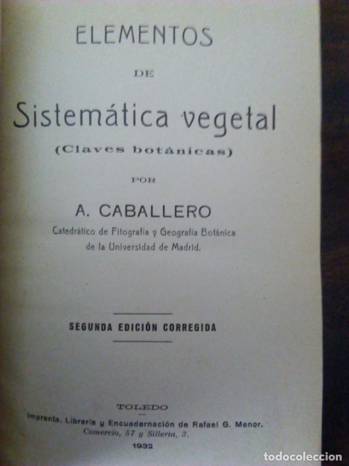 Alte Bücher: Sistemática Vegetal. A. Caballero. 1932. - Foto 2 - 147630338