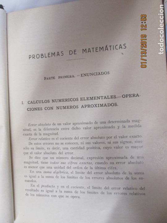 Libros antiguos: PROBLEMAS DE MATEMATICAS PARA ESTUDIANTES DE FISICA Y QUIMICA 1934-José M.ª Íñiguez y Almech - Foto 4 - 147782462
