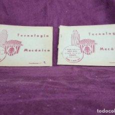 Libros antiguos: LOTE DE 2 CURIOSOS LIBROS DE TECNOLOGÍA MECÁNICA, INSTITUTO AMERICANO, MADRID, 1ER TERCIO XX, RAROS. Lote 148344674