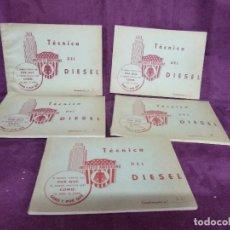 Libros antiguos: LOTE DE 5 CURIOSOS LIBROS DE TÉCNICA DEL DIESEL, INSTITUTO AMERICANO, MADRID, 1ER TERCIO XX, RAROS. Lote 148344986