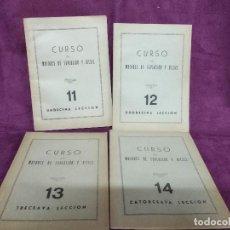 Libros antiguos: 4 LIBROS PARA CURSO DE MOTORES DE EXPLOSIÓN Y DIESEL, INSTITUTO AMERICANO, MADRID, 1ER TERCIO XX. Lote 148346462