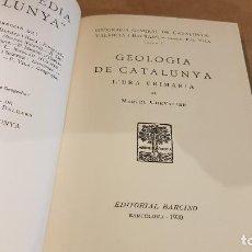 Libros antiguos: GEOLOGIA DE CATALUNYA / VOLUM I / L'ERA PRIMÀRIA / MARCEL CHEVALIER / ED-BARCINO-1930 / OCASIÓN.. Lote 148893918
