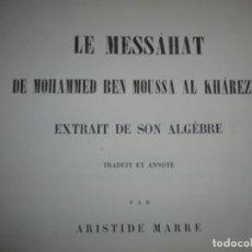 Libros antiguos: MICHAEL ROBERTS -CASIMIR RICHAUD --M.EUGENE CATALAN-MOHAMMED BEN MOUSSA -1866-67 ROMA . Lote 149264426