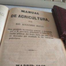 Libros antiguos: LIBRO MANUAL DE AGRICULTURA POR ALEJANDRO OLIVAN 1849. Lote 149440178