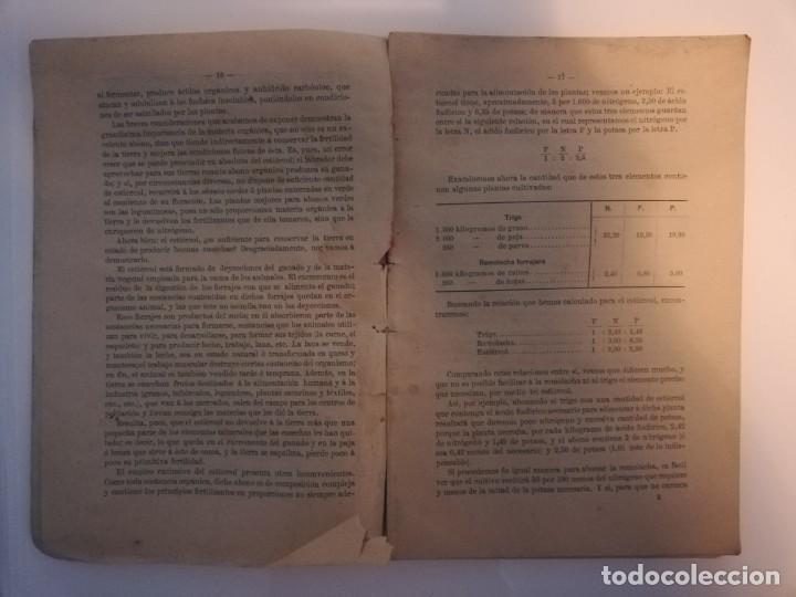 Libros antiguos: La Aplicación de los Abonos. Biblioteca Agronómica Popular - Foto 4 - 149548494