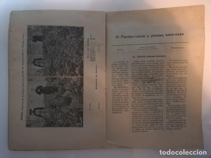 Libros antiguos: La Aplicación de los Abonos. Biblioteca Agronómica Popular - Foto 9 - 149548494