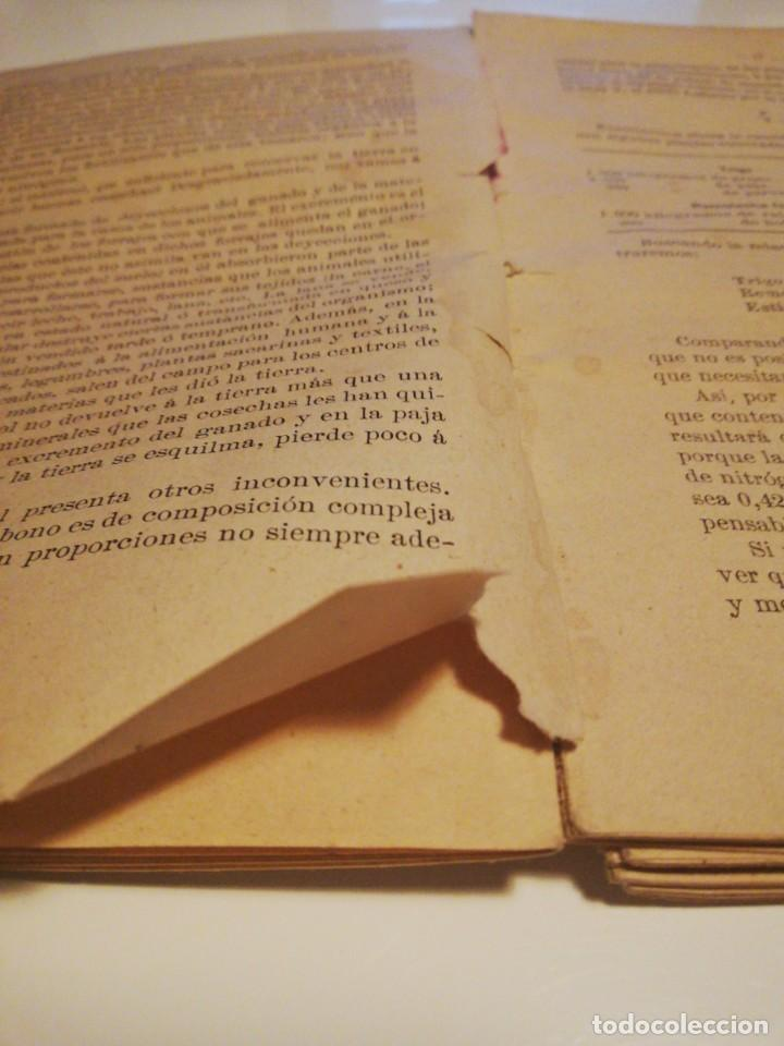 Libros antiguos: La Aplicación de los Abonos. Biblioteca Agronómica Popular - Foto 15 - 149548494