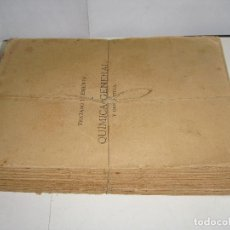 Libros antiguos: TRATADO ELEMENTAL DE QUÍMICA GENERAL Y DESCRIPTIVA. 1902.. Lote 150993190