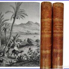 Libros antiguos: AÑO 1866: NATURALEZA, PLANTAS, ANIMALES. 2 ELEGANTES TOMOS ILUSTRADOS DEL SIGLO XIX. 22 CM.. Lote 151621294