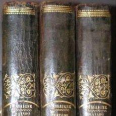 Libros antiguos: LASSAIGNE, JEAN-LOUIS: TRATADO COMPLETO DE QUIMICA. 3 VOLS. 1844.. Lote 151624966