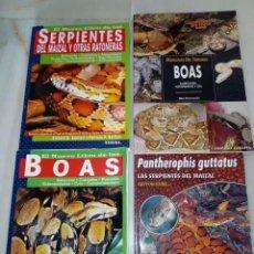 Libros antiguos: LOTE LIBROS BOAS Y SERPIENTES TERRARIO. Lote 151777222