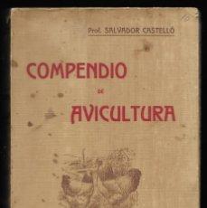 Libros antiguos: COMPENDIO DE AVICULTURA. RESUMEN DE LOS CURSOS DE AVICULTURA 2ª EDICIÓN 1914. Lote 151972310