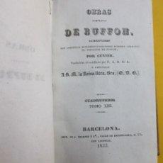 Libros antiguos: OBRAS DE BUFFON AUMENTADAS POR CUVIER.CUADRÚPEDOS. 2 TOMOS EN 1. TOMOS 13 Y 14. PIEL 1833.. Lote 152134146