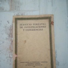 Libros antiguos: SERVICIO FORESTAL DE INVESTIGACIONES Y EXPERIENCIAS 1928, NUMERO 2, AÑO L. Lote 152168094