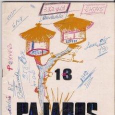 Libros antiguos: REVISTA TRIMESTRAL DEL GRUPO NACIONAL DE PAJAROS (VALENCIA) - NUMERO 13 PRIMER TRIMESTRE 1971. Lote 152347658