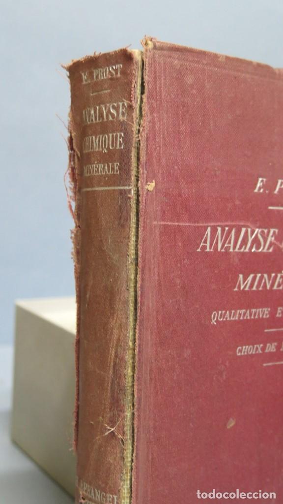 Libros antiguos: 1905.- Analyse Chimique Minérale. PROST - Foto 2 - 152816722