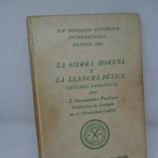 Libros antiguos: LA SIERRA MORENA Y LA LLANURA BÉTICA, XIV CONGRESO GEOLÓGICO INTERNACIONAL, 1926. Lote 152929918
