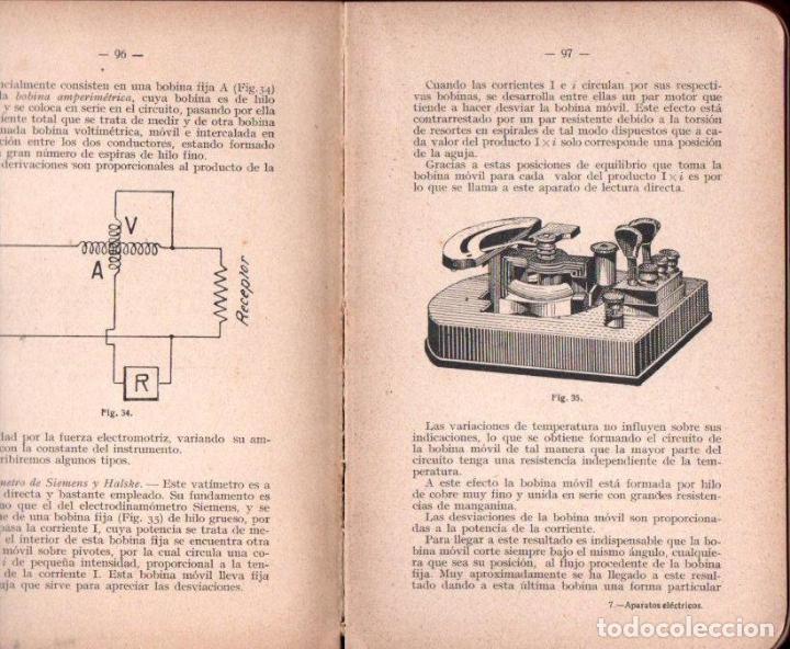 Libros antiguos: MARIO PÉREZ : APARATOS ELÉCTRICOS DE MEDICIÓN Y COMPROBACIÓN (FELIU, Y SUSANNA, 1915) - Foto 2 - 153326814