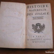 Libros antiguos: HISTOIRE NATURELLE, GÉNÉRALE ET PARTICULIERE, TOMO VII, 1779. BUFFON. CON NUMEROSOS GRABADOS. Lote 153434185