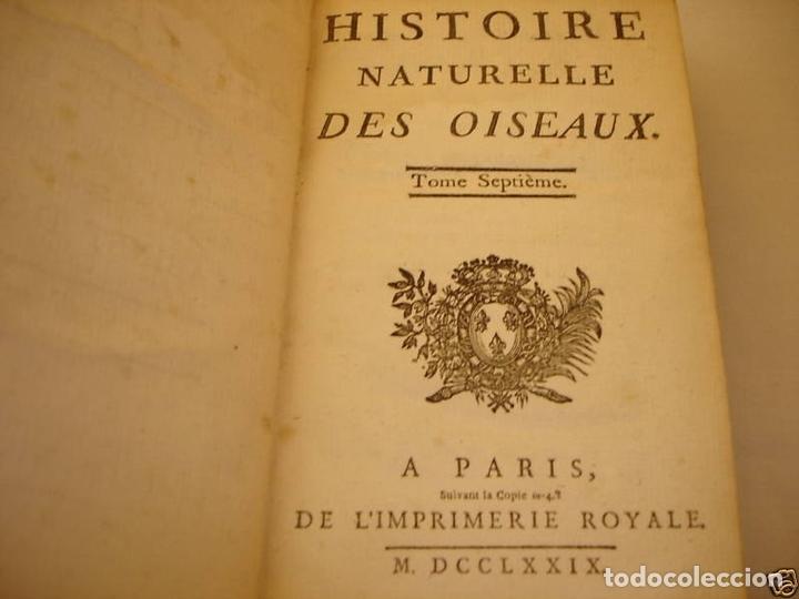 Libros antiguos: Histoire Naturelle, générale et particuliere, Tomo VII, 1779. Buffon. Con numerosos grabados - Foto 16 - 153434185