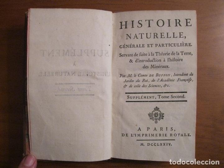 SUPLEMET A L HISTOIRE NATURELLE, TOMO II, 1774. BUFFON. POSEE 16 GRABADOS (Libros Antiguos, Raros y Curiosos - Ciencias, Manuales y Oficios - Biología y Botánica)