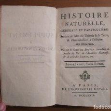 Libros antiguos: SUPLEMET A L HISTOIRE NATURELLE, TOMO II, 1774. BUFFON. POSEE 16 GRABADOS. Lote 153442294