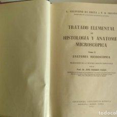 Libros antiguos: TRATADO ELEMENTAL DE HISTOLOGÍAY ANATOMIA MICROSCOPICA (2 TOMOS). Lote 153663626