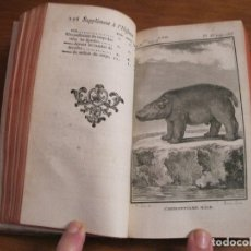 Libros antiguos: SUPLEMET A L HISTOIRE NATURELLE TOMO XI, 1782. BUFFON. POSEE GRABADOS. Lote 153740322