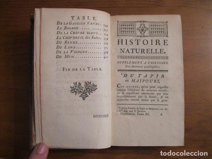 Libros antiguos: Suplemet a l histoire naturelle Tomo XI, 1782. Buffon. Posee grabados - Foto 3 - 153740322