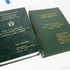 Libros antiguos: TESIS FACULTAD FARMACIA BIOLOGIA VEGETAL ESTUDIO DE LOS SUELOS COMARCA LOS SERRANOS Y TUEJAR . Lote 154158686