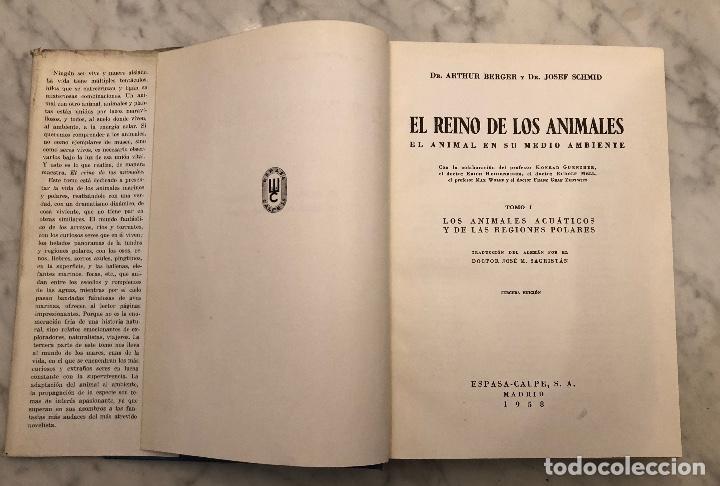 Libros antiguos: 1 Los Animales Acuaticos y las Regiones Polares(17€) - Foto 2 - 154376142