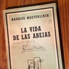 Libros antiguos: LA VIDA DE LAS ABEJAS-MAETERLINCK(20€). Lote 154376910