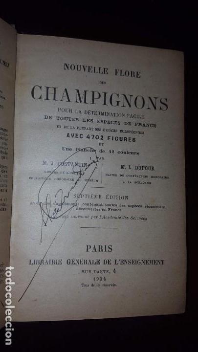 Libros antiguos: Nouvelle flore des Champignons - 1934 - Foto 4 - 154866962
