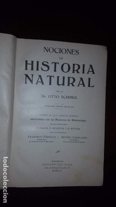 Libros antiguos: Nociones de Historia Natural - Segundo grado - Schmeil - 1926 - Foto 2 - 155528078