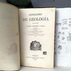 Libros antiguos: COMPENDIO DE GEOLOGÍA (M., 1872 VILANOVA Y PIERA) LÁMINAS GRABADAS PLEGADAS (FÓSILES, GEOGNOSIA, GEO. Lote 155544450