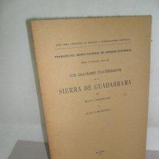 Libros antiguos: LOS GLACIARES CUATERNARIO DE LA SIERRA DE GUADARRAMA, OBERMAIER Y CARANDELL, MADRID, 1917. Lote 155638298