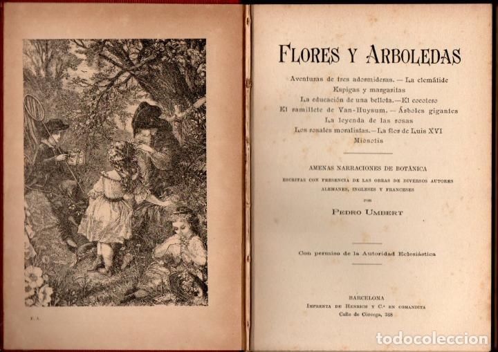 UMBERT : FLORES Y ARBOLEDAS (HENRICH, 1913) AMENAS NARRACIONES DE BOTÁNICA (Libros Antiguos, Raros y Curiosos - Ciencias, Manuales y Oficios - Bilogía y Botánica)