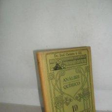 Libros antiguos: ANÁLISIS QUÍMICO, DR. CASARES Y GIL, ED. CALPE, MANUALES GALLACH. Lote 156223250