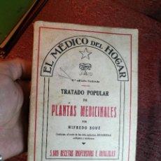 Libros antiguos: WIFREDO BOUÉ. EL MÉDICO DEL HOGAR. TRATADO POPULAR DE PLANTAS MEDICINALES. 5000 RECETAS INOFENSIVAS. Lote 156815250