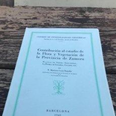 Libros antiguos: FLORA Y VEGETACON, PROVINCIA DE ZAMORA, 1949. Lote 156956510