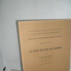 Libros antiguos: LAS CALIZAS CRISTALINAS DEL GUADARRAMA, JUAN CARANDELL, MADRID, 1914. Lote 157239822