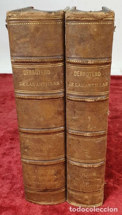 Libros antiguos: DERROTERO DE LAS ISLAS ANTILLAS. DIRECCIÓN DE HIDROGRAFÍA. VVAA. 2 VOL 1865/1877. - Foto 4 - 157352854