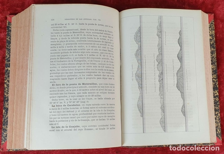 Libros antiguos: DERROTERO DE LAS ISLAS ANTILLAS. DIRECCIÓN DE HIDROGRAFÍA. VVAA. 2 VOL 1865/1877. - Foto 7 - 157352854