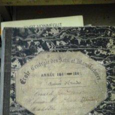 Libros antiguos: COURS DE GEOMETRIE DESCRIPTIVE (AÑO, 1948-1849) MANUSCRITO EN FRANCÉS A PLUMILLA. Lote 158568558