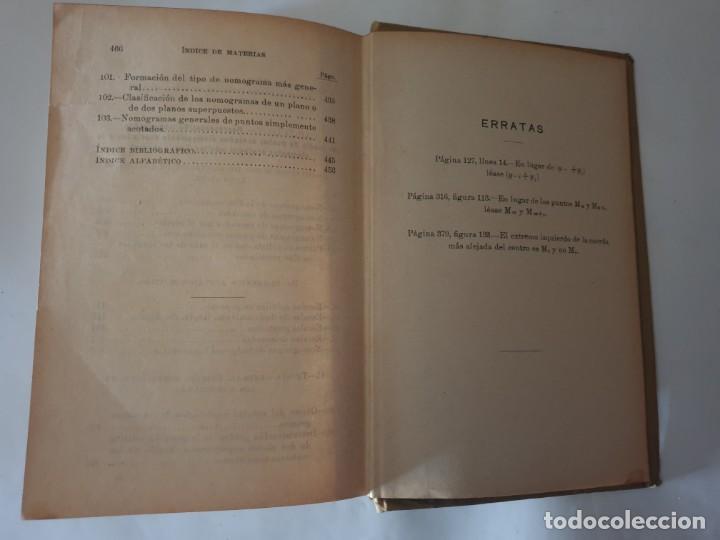 Libros antiguos: CALCULO GRAFICO Y NOMOGRAFIA 1914 M.D OCAGNE - Foto 6 - 159218110